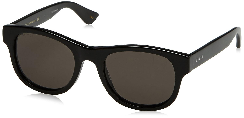 Gucci 0003S_001 (52 mm) gafas de sol, Black, 52 para Hombre