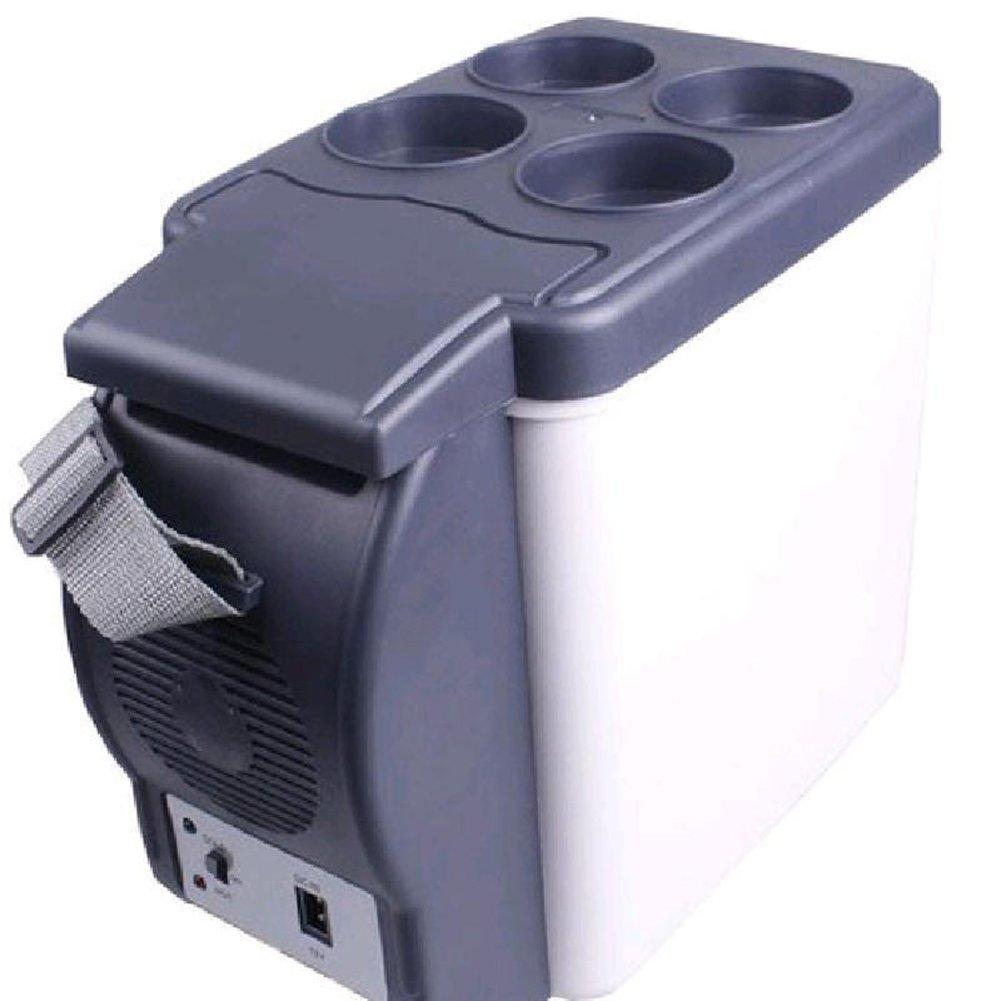 LIQICAI 6L elektrische Kühlbox Auto Zuhause tragbar Leicht/12V DC (Auto)/220V AC (Zuhause) Tragbarer Tragegurt