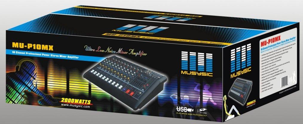 10 Channels 2000W Professional Power Mixer Amplifier USB & SD SLOT KARAOKE PA SYSTEM