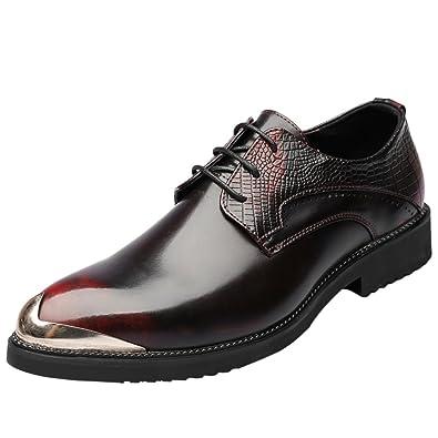Amazon Com Santimon Mens Shoes Alligator Leather Silver Metal Tip