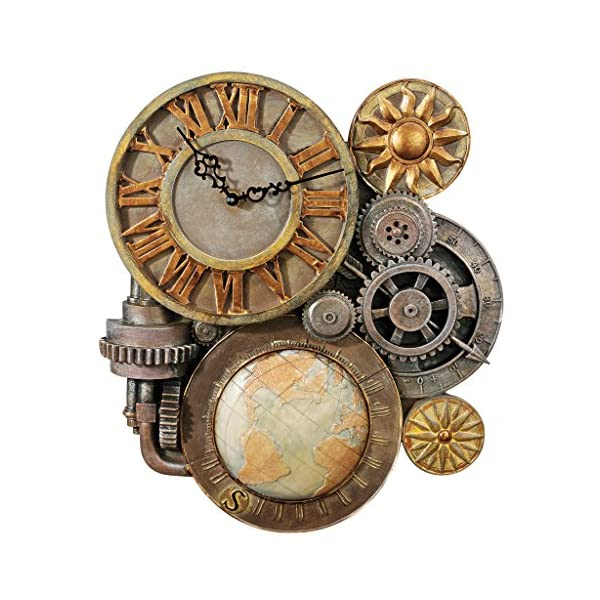Design Toscano Gears of Time Sculptural Wall Clock 3