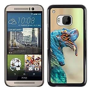 FlareStar Colour Printing Turkey Tropical Blue Bird Nature Easter cáscara Funda Case Caso de plástico para HTC One M9