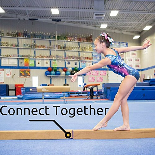 Beginner Gymnastics Balance Beam (4ft) | Let Your Kids Practice Routines at Home | Low to the Floor, Portable, Folding Gym Beam | High Density Foam, Suede Padding Allows Safe Tumbles Indoors and Out