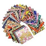 Yuzen Washi Paper 3.7'' x 3.7'', Japanese Chiyogami Washi Paper 30 Sheets