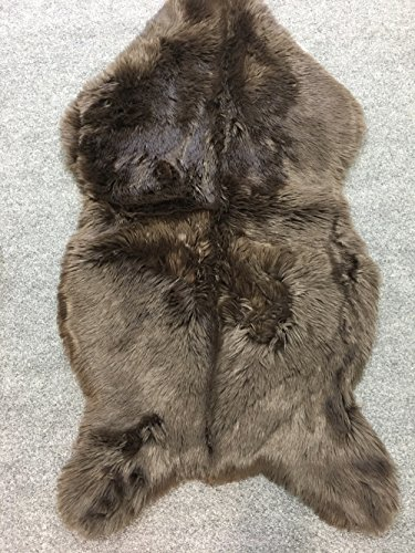 WPM Deluxe Soft Faux Sheepskin Chair Cover Seat Pad Shaggy Area Rugs for Bedroom Sofa Floor (3ft x 5ft, Brown)