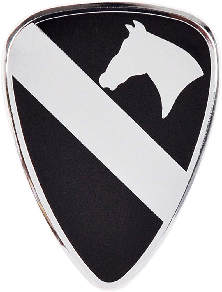 1st Cavalry Division Chrome All Metal Officially Licensed Metal Car Emblem
