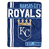 The Northwest Company MLB Kansas City Royals Micro Raschel Throw, One Size, Multicolor