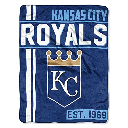 The Northwest Company MLB Kansas City Royals Micro Raschel Throw, One Size, - Fleece Royals Kansas City