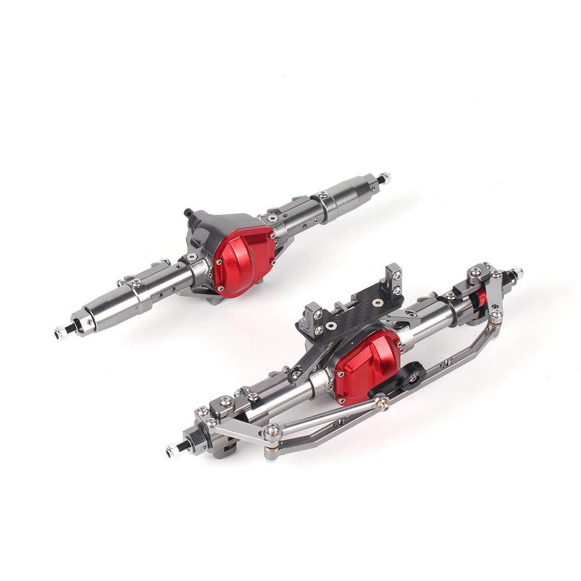 Jiobapiongxin 1 Satz 1/10 Rc Auto Komplette Legierung Vorder- und Hinterachse CNC Maschine für 1:10 Rc Crawler AXIAL SCX10 RC4WD D90 LKW Autoteile JBP-X