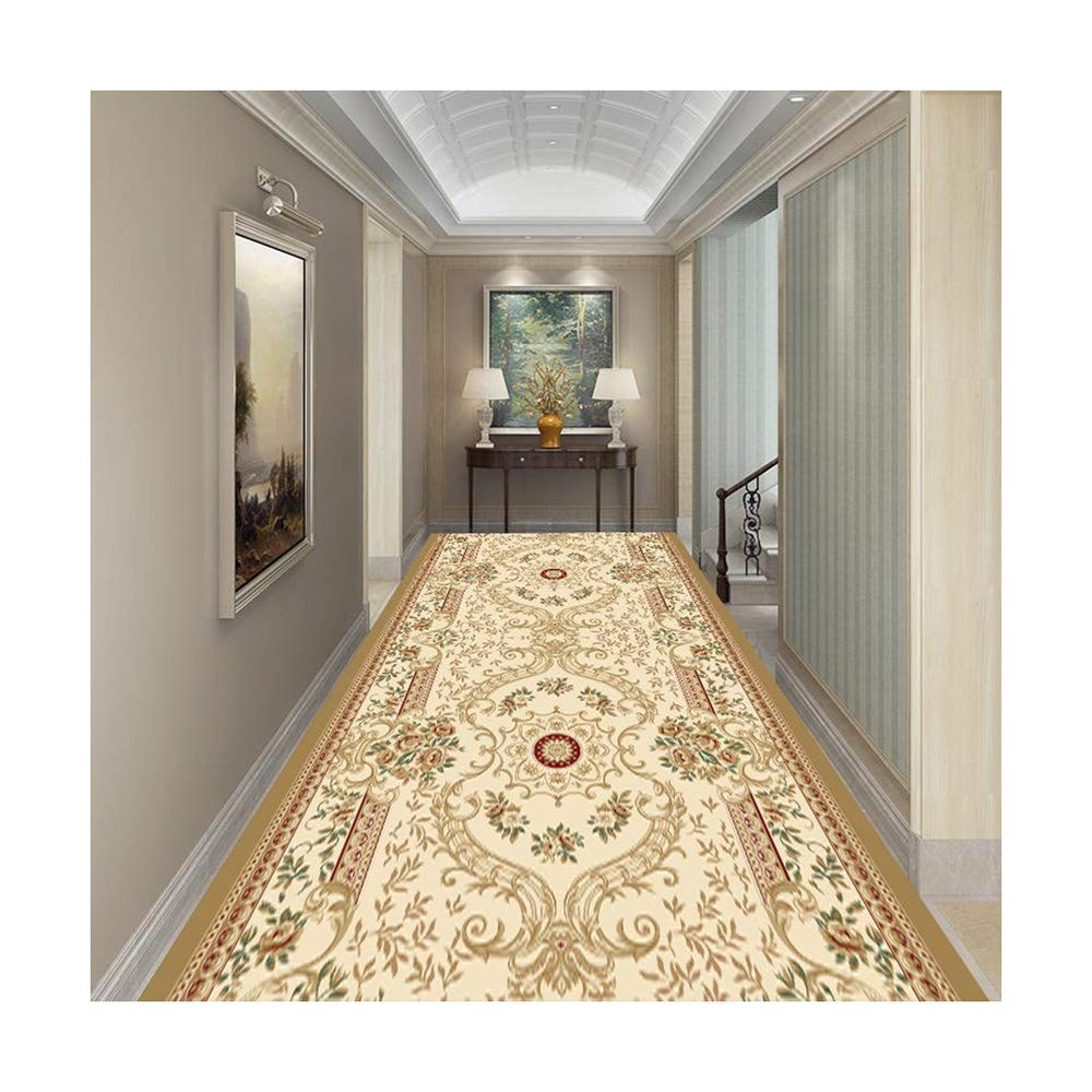 廊下フルカーペットヨーロピアンスタイルのホワイエ通路階段カッティングマット (色 : A, サイズ さいず : 120*250CM) B07RGF3G9X A 120*250CM