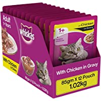 Whiskas Wet Meal Adult Cat Food Chicken in Gravy, 1.02 kg (Pack of 12)