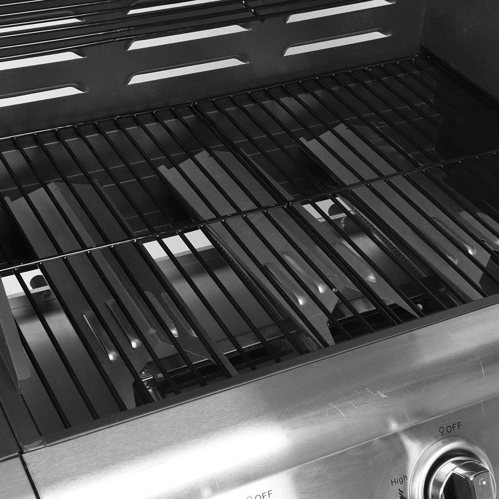 Barbacoa a Gas BBQ de Acero Inoxidable con Panel de Control y 2 Mesitas Auxiliares M/áquina de Barbacoa de Parrilla de Gas Herramienta de Barbacoa para Jard/ín 120.2 x 47 x 112cm