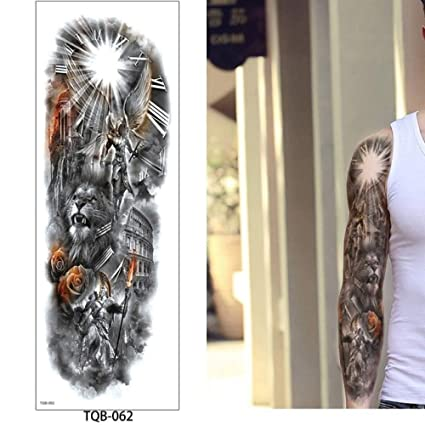 Etiqueta engomada del tatuaje del brazo grande Colorido ...