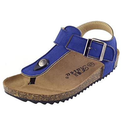 Unisex-Kinder Zehentrenner aus Kork - Sandale Geschlossener Fersenbereich 24ae0a58dd