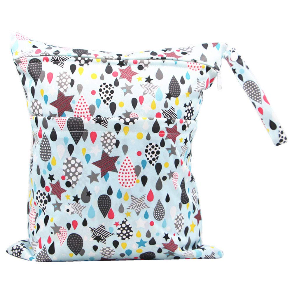 WDOIT Nappy Bag Baby Waterproof Changing Bag Portable Multifunctional Diaper Bag Double Zip Large Capacity for Toddlers 30 x 36 cm