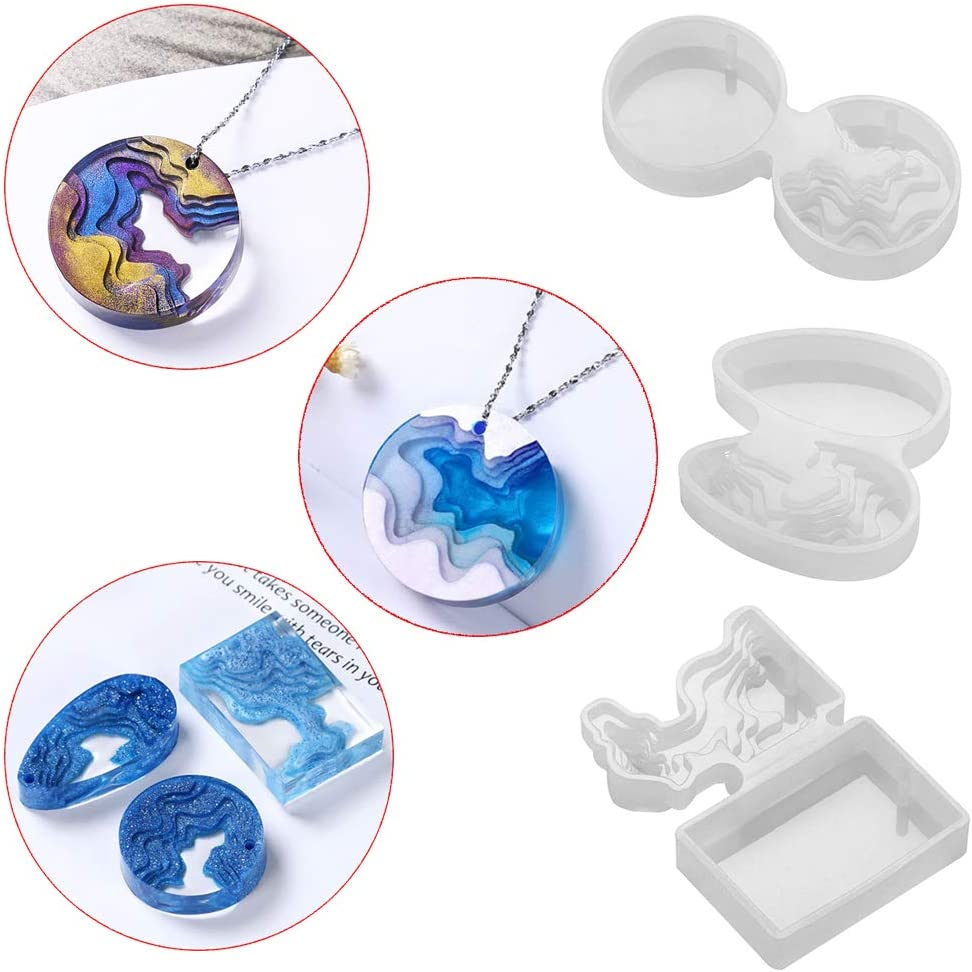 Crystal Key Chain UV Epoxy Jewelry Making Tools Resin Mold Silicone Mould