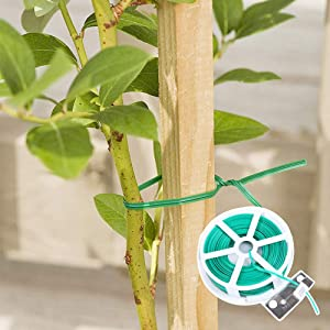 INF-STAR 98' Garden Plant Twist Ties with Safe Cutter, Fit for Your Gardening Home Office