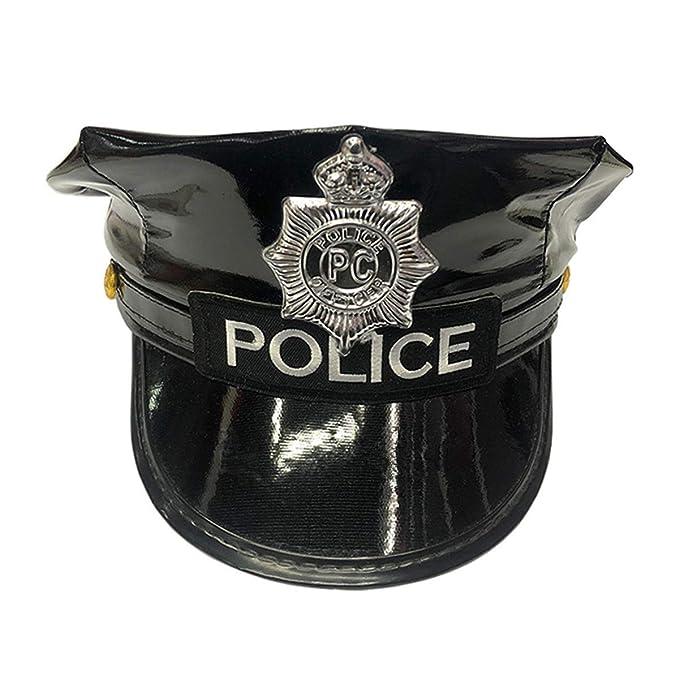 LOKESI Sombrero de policía Accesorios de policía Gorra Sombrero de ...