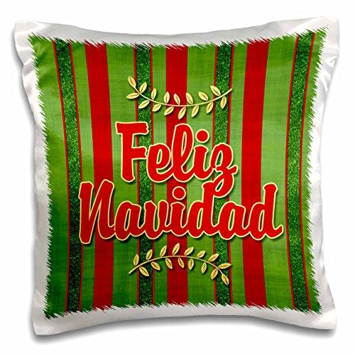 Doreen Erhardt Christmas Collection - Feliz Navidad Spanish Festive Red and Green (Christmas Glitter T-shirt)