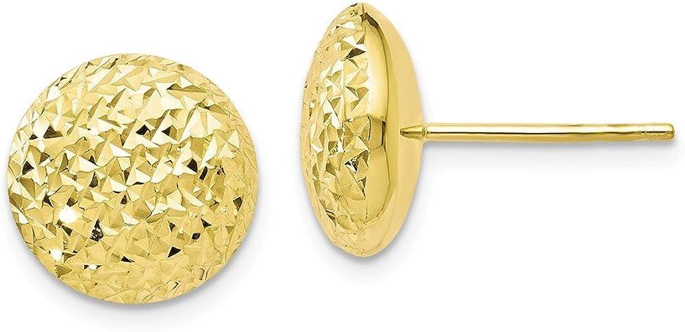 Leslie 10k Yellow Gold Diamond Cut Post Earring