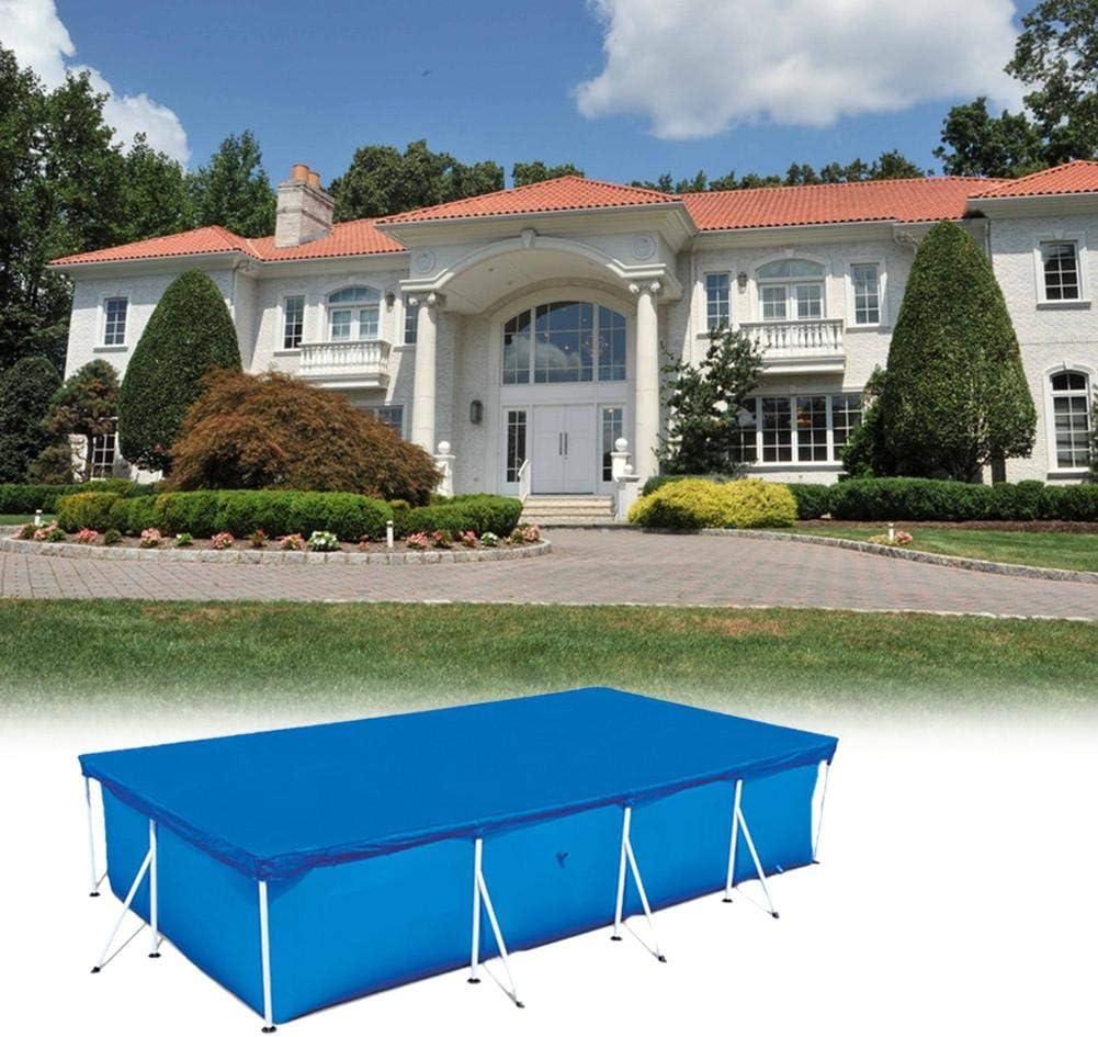 Cubiertas de piscina para piscinas elevadas, cubierta de piscina Cubierta contra polvo a prueba de lluvia Cubierta de piscina plegable para cubierta de piscina rectangular Piscinas de verano