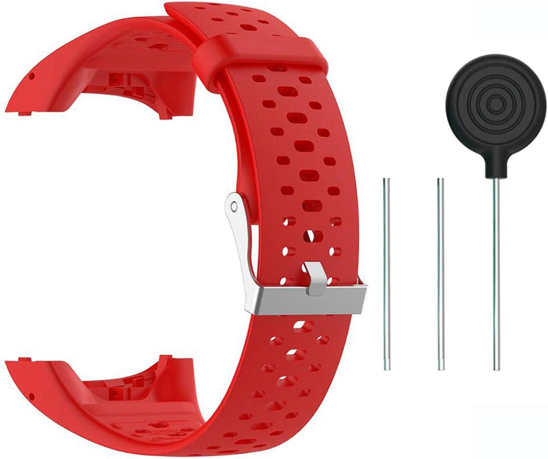 Saisiyiky Accesorio Reemplazo de Liberación Rápida Banda de Reloj de Silicona Suave Pulsera de Correa Deportiva para M400 / M430 GPS Reloj smartwatch