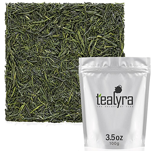 Tealyra - Gyokuro Shizuoka - Japanese Green Tea - The Best Japanese Tea - Organically Grown in Japan - Loose Leaf Tea - Caffeine Medium - 100g (3.5-ounce)