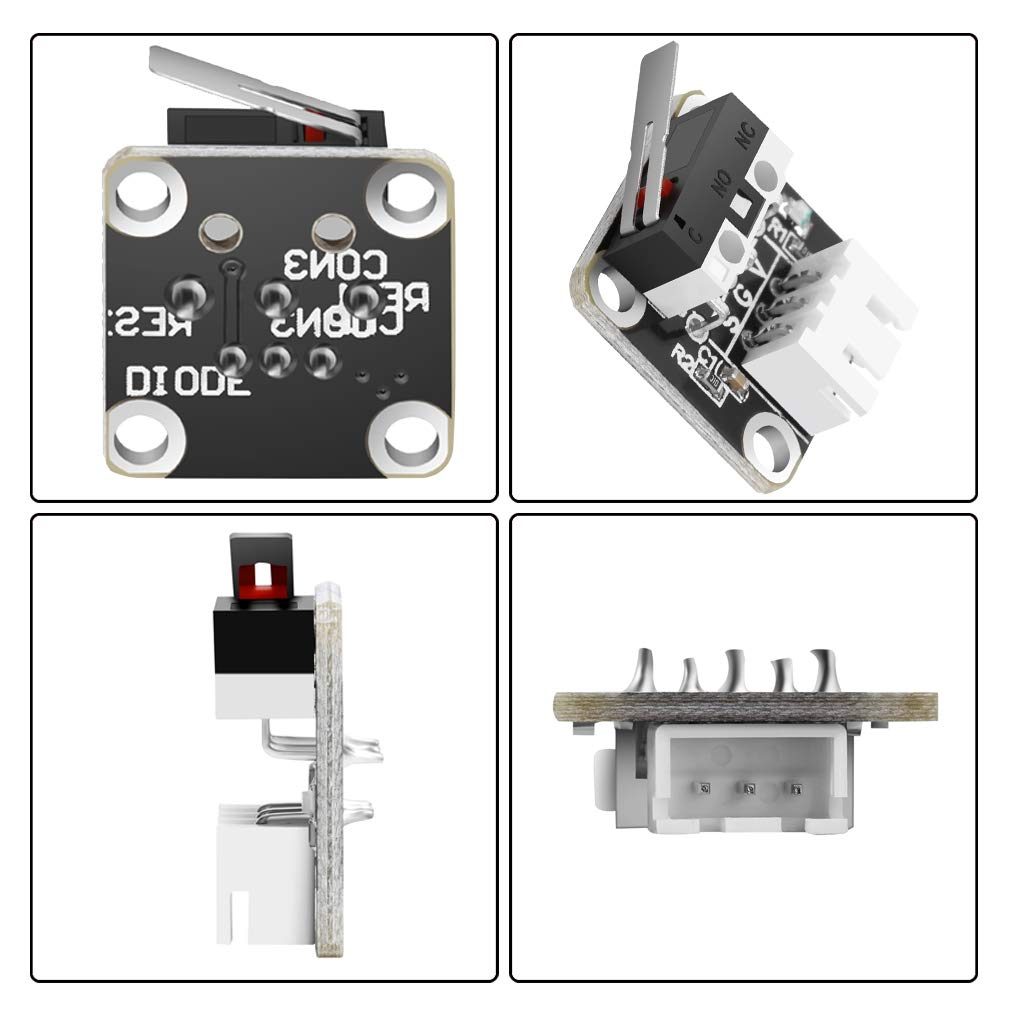 5 Pack 3D Printer Part Accessories Limit Switch Mechanical Switch Module Endstops Switch for RepRap CR-10 10S Ender 3 Pro S4 S5 Series by MXRS