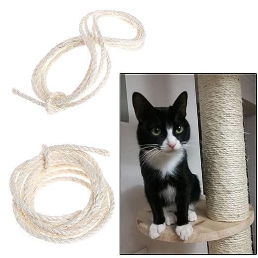 Bogji - Cuerda de sisal natural para rascar gatos, cuerda de ...