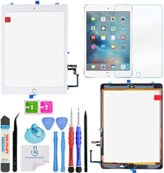 OEM White Touch Screen Glass Digitizer Repair+Home Button for iPad Air 1 Tools