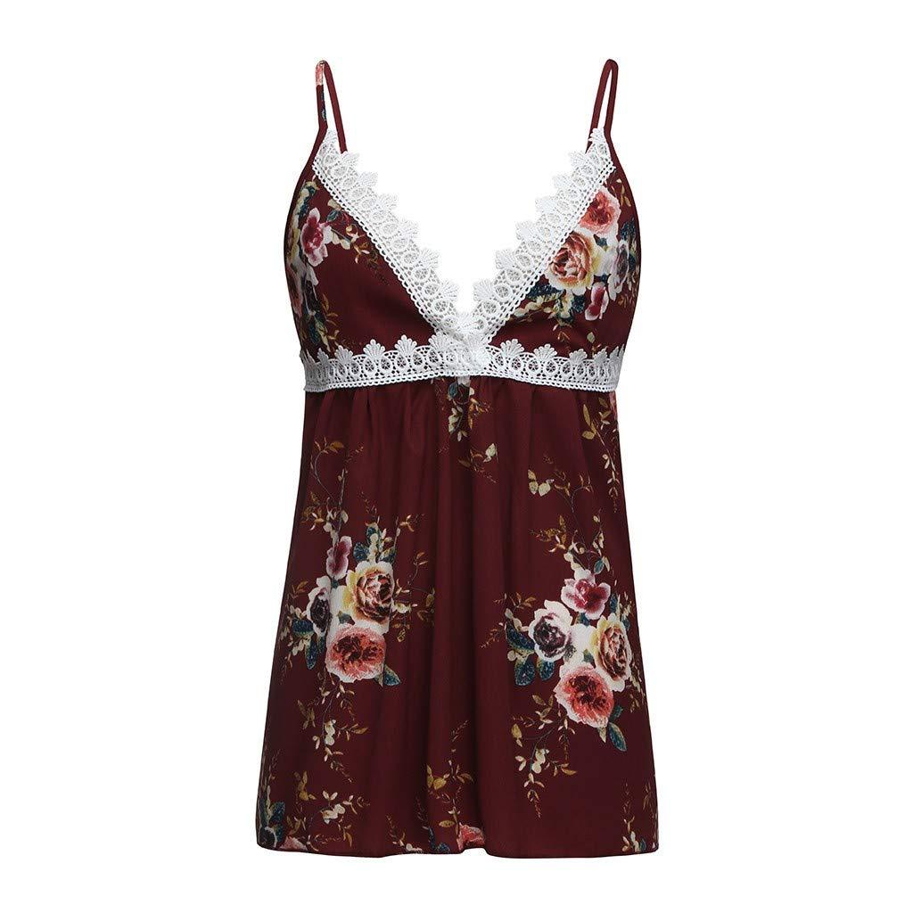 ❤ URIBAKY-Ropa Camisetas Mujer, Camisas Mujer Verano Elegantes Casual Tallas Grandes Estampado Floral Camisetas Mujer Chaleco Cuello en V para Mujer ...