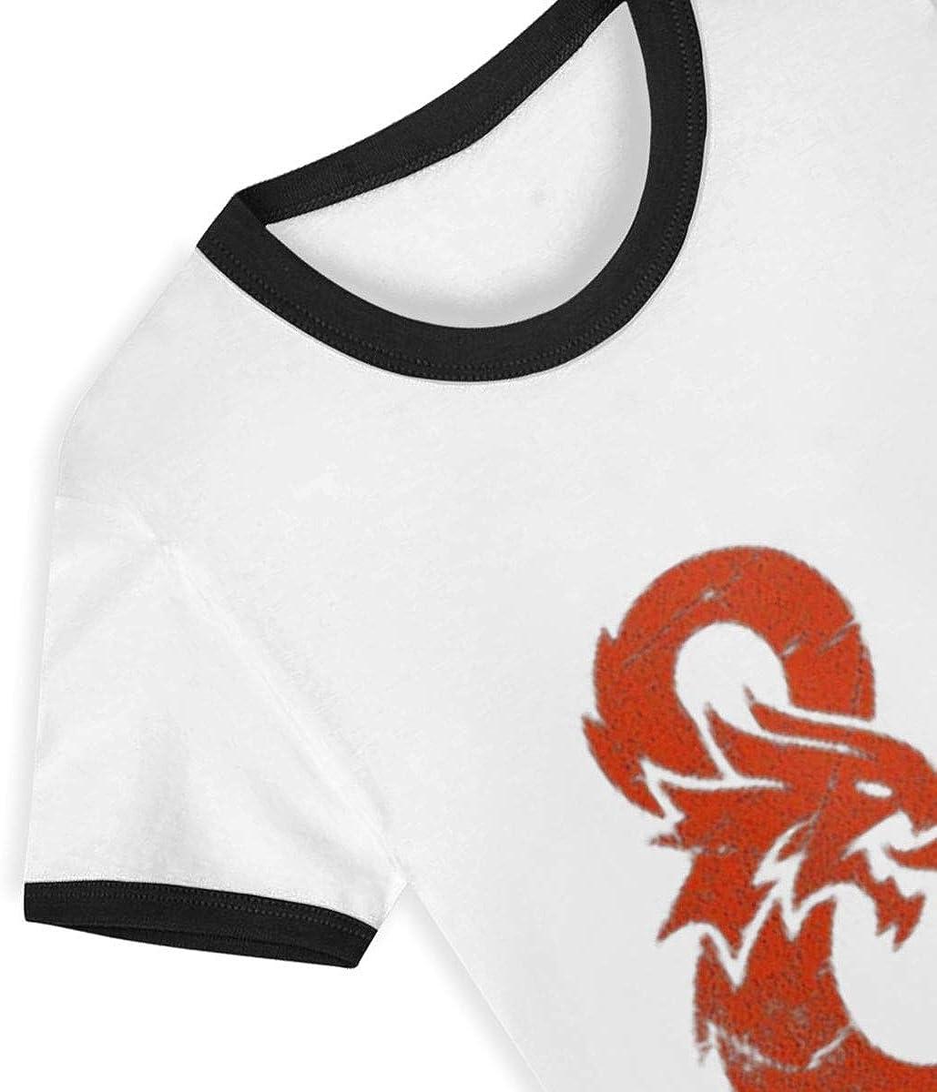 CY SHOP D/&D Bot Discord Bots Childrens Boys Girls Contrast Short Sleeve T-Shirt