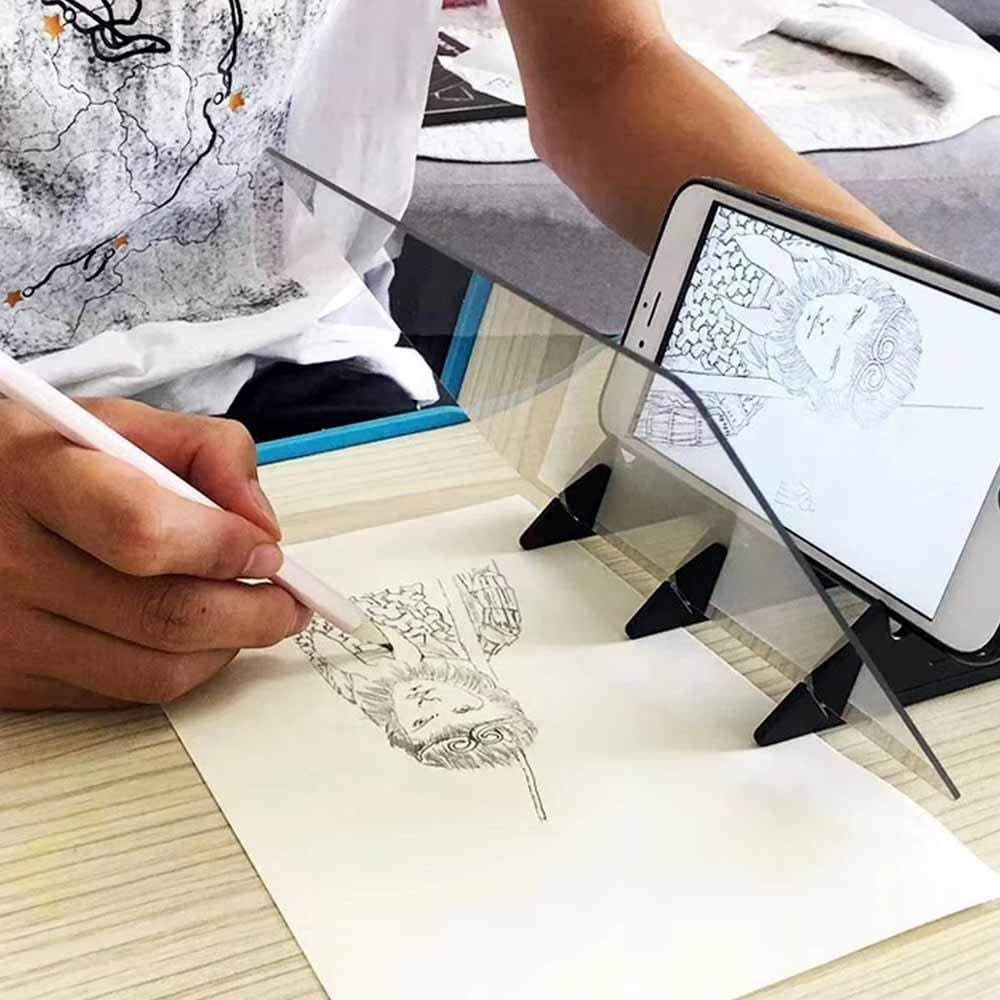 Gebuter Optical Image Drawing Board Sketch Reflection Dimming Bracket Painting Mirror Plate