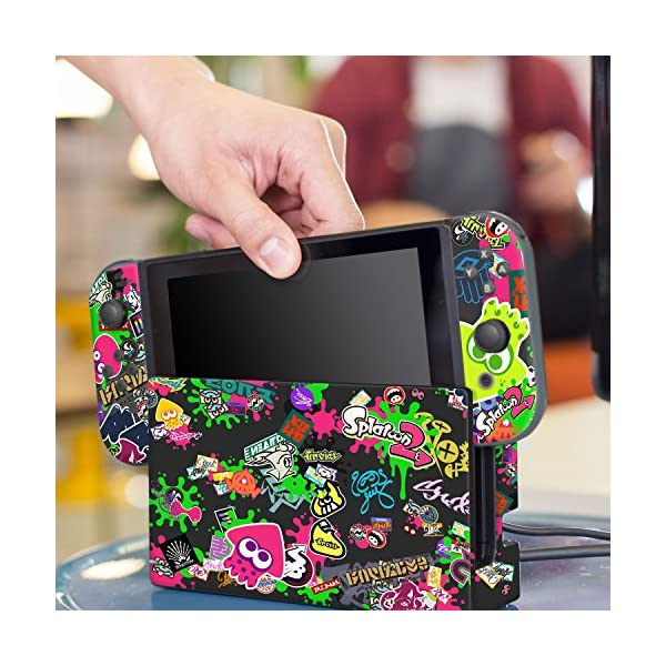 """Controller Gear Nintendo Switch Skin & Screen Protector Set, Officially Licensed By Nintendo - Splatoon 2 """"Stick Em' Up"""" - Nintendo Switch 6"""