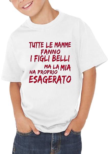 Fermento Italia T-Shirt Bambino Divertente Tutte Le Mamme Fanno I Figli  Belli - Maglietta. Scorri sopra l immagine per ingrandirla d5050b68a5ed