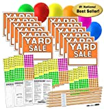 Yard Sale Sign Kit with Price Stickers and Wood Sign Stakes (A806Y)