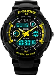 Relojes de Hombre Sport LED Digital Military Water Resistant Digital Men Watch RE0023