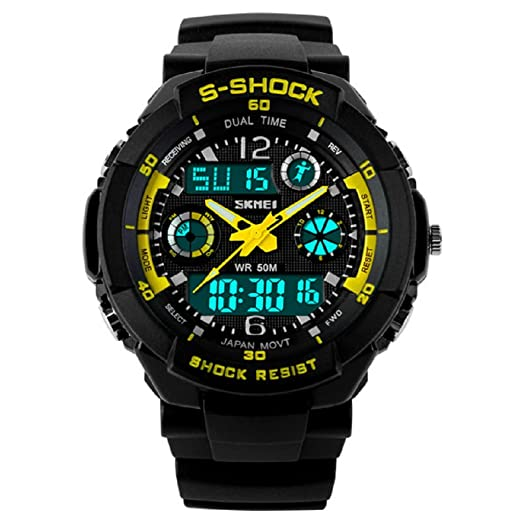 Relojes de Hombre Sport LED Digital Military Water Resistant Digital Men Watch