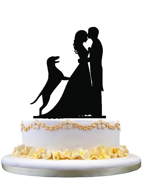 Amazon Com Funny Wedding Cake Decor With German Shepherd Dog
