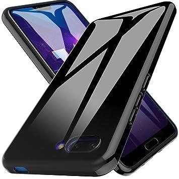 LK Funda para Huawei Honor 10, Carcasa Cubierta TPU Silicona Goma Suave Case Cover Play Fino Anti-Arañazos - Negro