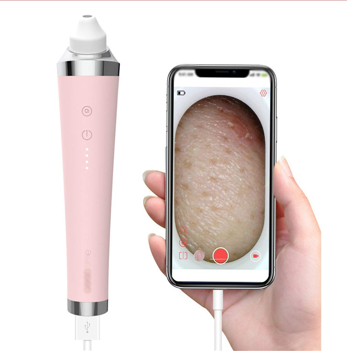 Facial Cleaning Brush with 3 Modes Deep Cleansing Gentle Exfoliating and Removing Blackhead USB Charging ( Can Be See) by GLLMBDD