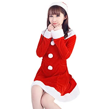 Tianya Women Sexy Santa Nightdress Christmas Costume Fancy Dress UP Xmas  Office Party Outfit Dress  Amazon.co.uk  Sports   Outdoors 18a2d72c53ac