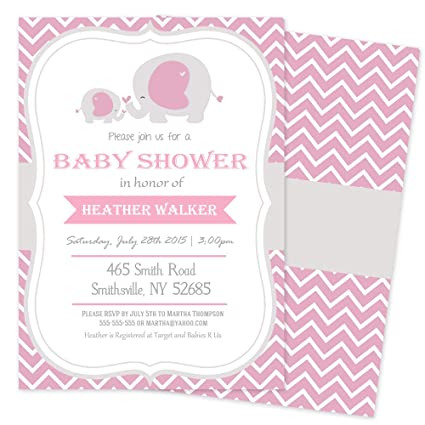 graphic relating to Printable Elephant Baby Shower known as Boy or girl Shower Invites Elephant, Purple Elephant Youngster Shower Invites Printable (Mounted of 100)
