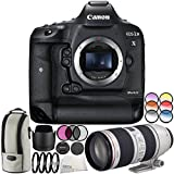 Canon EOS-1D X Mark II DSLR Camera with EF 70-200mm f/2.8L IS II USM Lens 6PC Accessory Bundle – Includes 3PC Filter Kit (UV + CPL + FLD) + MORE - International Version (No Warranty)