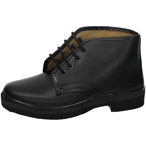 CANOS 010 Botas Piel Forradas Hombre Calzado Trabajo Negro