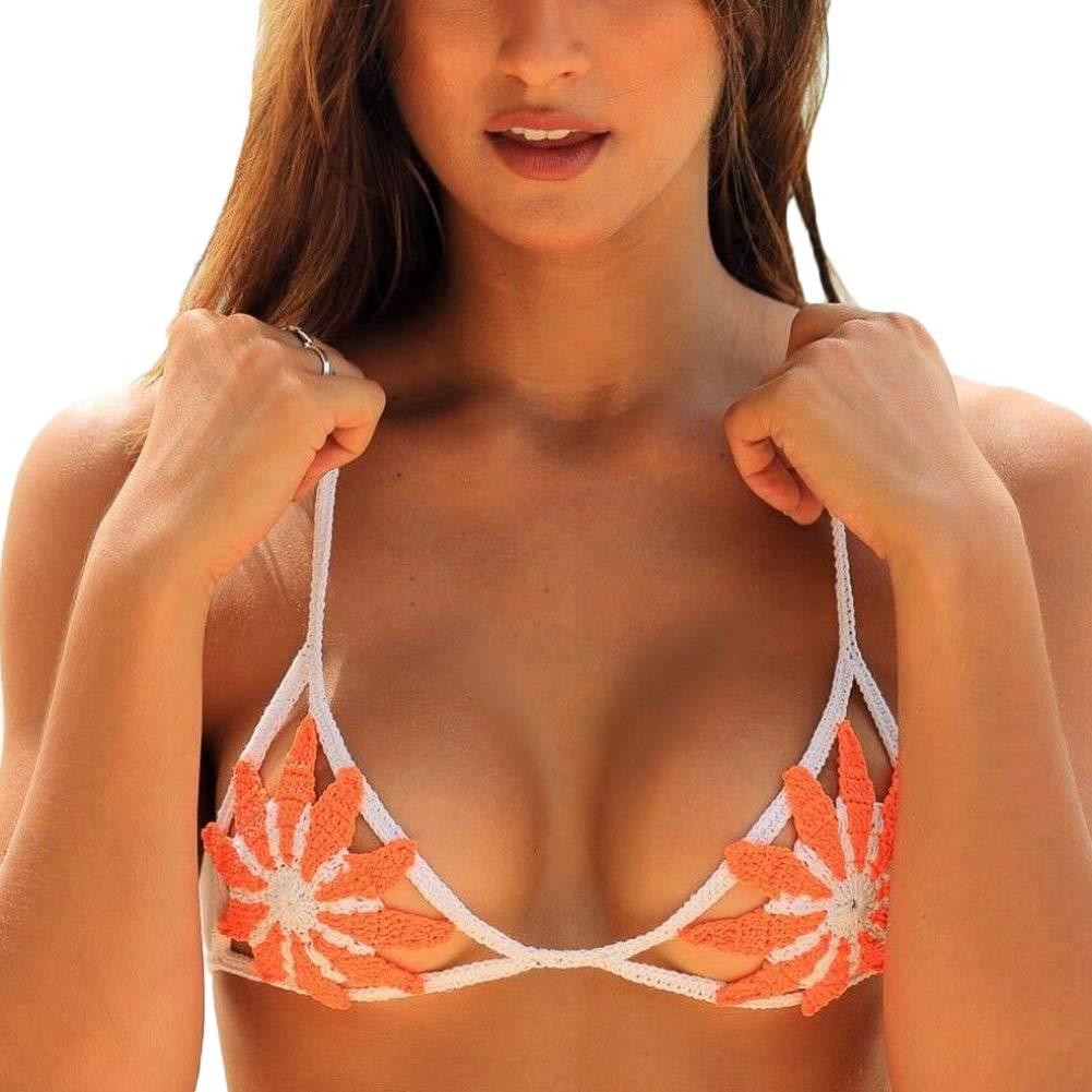 Damen abnehmbare gepolsterte Spaghetti String Coral Side Tie hohe Taille Sexy Bikini Set 2 Stücke Badeanzug Badeanzug