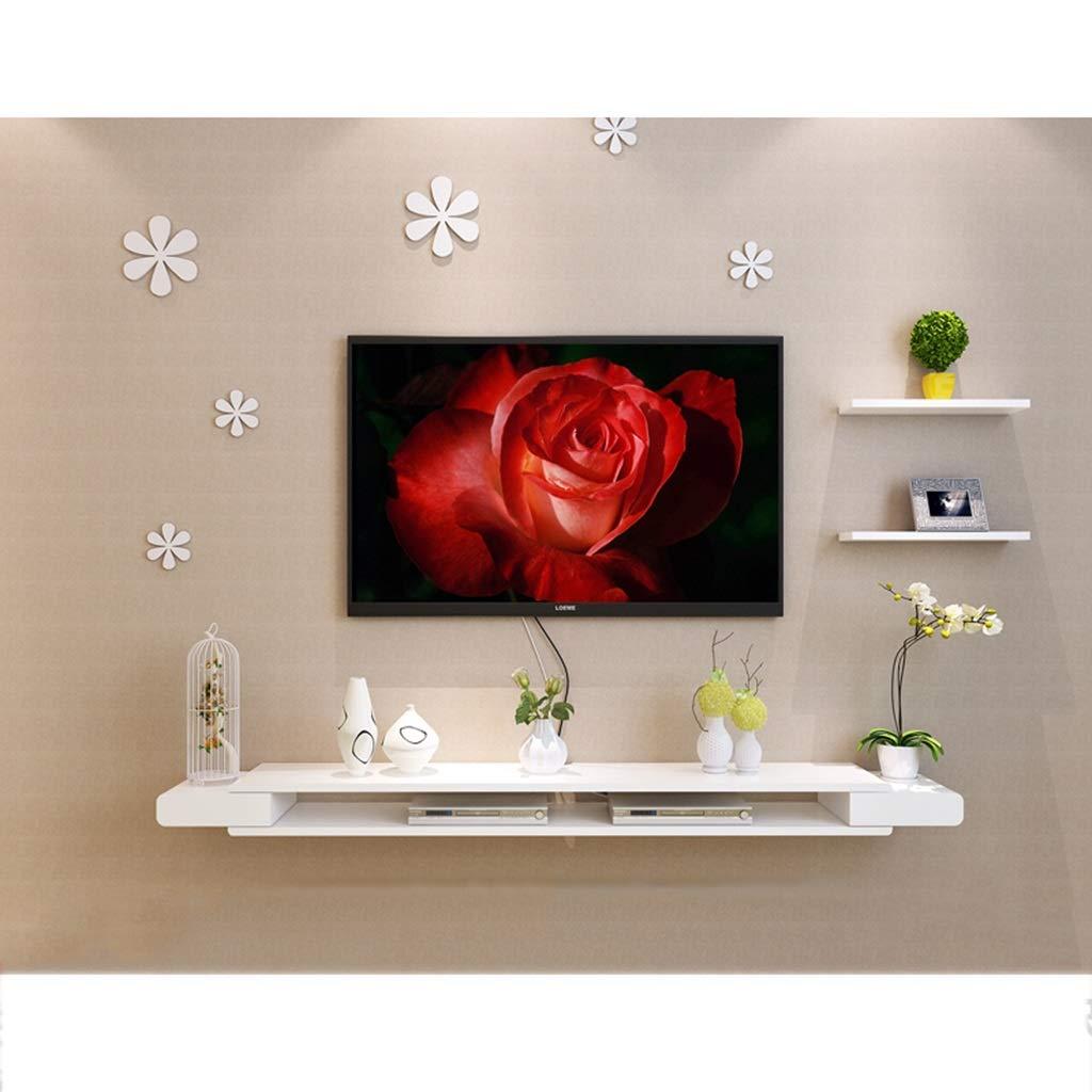 白い壁フローティング棚壁の飾り棚テレビのキャビネットテレビのコンソールテレビの棚ケーブルボックスDVDプレーヤー収納棚壁の背景装飾的な棚 (サイズ さいず : 150cm) B07RTXRVF3  150cm