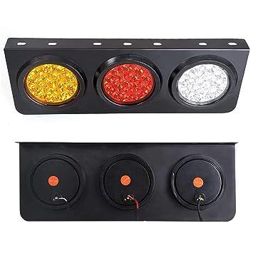 LED Luces Traseras Para Camiones / Remolques Con Base De Soporte De Hierro - Impermeable DC12-24V Barra ...