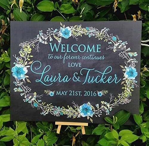 Wedding Reception Signs Ideas: Amazon.com: Wedding Welcome Signs, Wedding Sign, Wedding