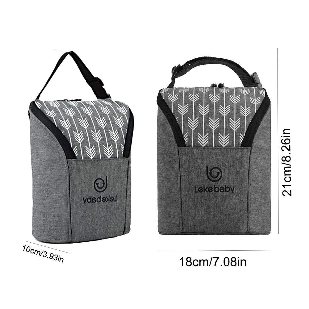sacs /à couches multifonctions pour b/éb/é avec 3 poches isol/ées pour biberon de lait thermique sac /à dos /à langer sac de biberon pour la conservation du lait maternel 3.8L Sac /à dos momie